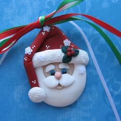 *POLYMER CLAY ~ Santa Ornament Polymer Clay by DesignsByWho on Etsy