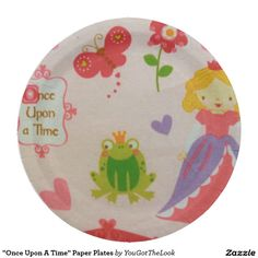 """Once Upon A Time"" Paper Plates"