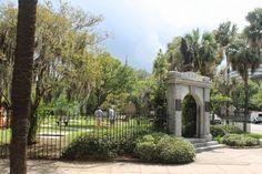 Cemetery, Savannah Chat, Colonial, Sidewalk, Park, History, Plants, Memorial Park, Historia