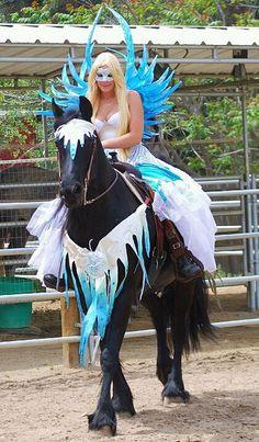 horse parade costumes | Ice Angel on Horseback | Flickr - Photo Sharing!