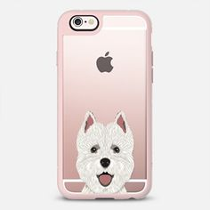 Highland Terrier cute puppy dog person gift idea for terrier owner iphone transparent case with dog