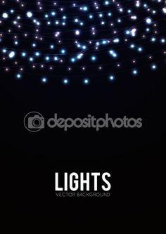 Fundo de luzes brilhantes — Ilustração de Stock #67148153