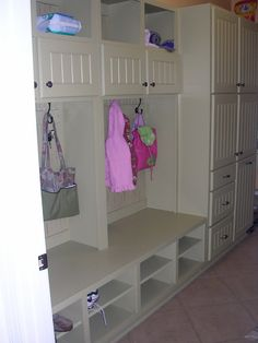 mudroom lockers - something like this for the toy room.