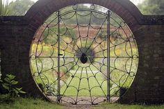 Spiderweb door.