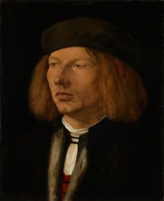 Albrecht Dürer, Portrait of Burkhard of Speyer   https://www.royalcollection.org.uk/collection/404418/burkhard-of-speyer-16th-century. Oil on panel. 31.7 x 26 cm. Royal Collection Trust  Albrecht Dürer visited Venice twice. A great admirer of the work of Giovanni Bellini, he showed a strong interest in the artistic developments unfolding in Italy at the time. In turn, artists in Venice were greatly influenced by his work, in particular his painstaking attention to detail.