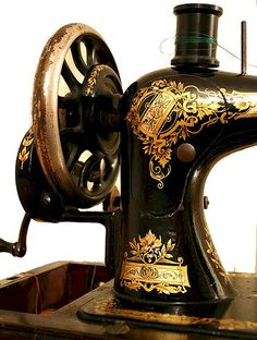 antique Singer machine