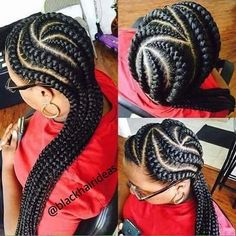 #blackhairideas #afro #cutehair #updo #hairstyles #hair #cute #cutehair #africanhairstyles #africanbraids #protectivestyles #cornrows