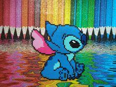 Stitch hama perler beads by HigurashiKarly on DeviantArt