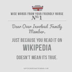 web md/ wikipedia syndrome