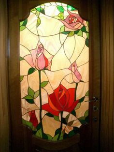 Stained glass roses