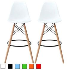 2xhome Set Of Two 2 Black 26 5 Inches Eames Style