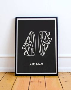 Nike Air Max 90 Sneaker Print • Sneaker Art • Nike Sneaker Poster • Air Max Poster • Wall Art Print • Living Room Wall Decor Home Decor • • • • • • • • • https://.etsy.com/shop/NoSweatPrintShop