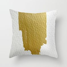 Gold Stroke by Hayley Sherman  THROW PILLOW / COVER (16 X 16) $20.00