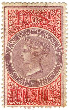 Revenue stamps of New South Wales