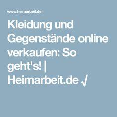 0eb089f6c8c35a Kleidung und Gegenstände online verkaufen  So geht s!