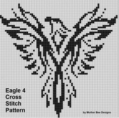 Eagle 4 Cross Stitch Pattern by MotherBeeDesigns on Etsy
