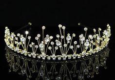 68f9461ab1 Νυφικά Αξεσουάρ - Αξεσουάρ Μαλλιών    Επίχρυση Τιάρα με κρύσταλλα Βασίλισσα