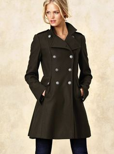 Wool Military Lace-up Coat - Victoria's Secret