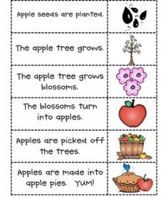 Apple literacy activities. Would work well with Johnny Appleseed day/week or a Fall unit