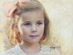 Stunning oil on board portrait by a Portraits, Inc. artist