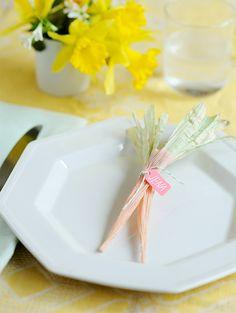 Corn Husk Carrots DIY | Oh Happy Day!
