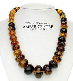 84846bbf68fc Mexican Amber Bead Necklace Made from one Amber piece- A0180 - RRP£3495!!!