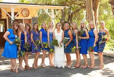 Love the mismatched bridesmaid thing