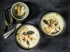 Panna Cotta, Ethnic Recipes, Food, Salvia, Christmas, Inspiration, Fennel, Thermomix Soup, Red Apple