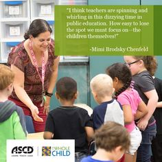 In this June 2011 Educational Leadership article, Mimi B. Chenfeld discusses the importance of keeping your balance and staying focus on the children. #teaching