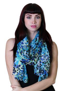 Amazon.com: Women's Belize Floral Animal Print Chiffon Silky Soft Fashion Scarf / Shawl / Wrap / Sarong: Clothing