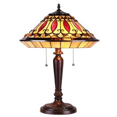 Chloe Lighting Tiffany Style 2 Lt Mission Table Lamp CH35882RV16-TL2 #ChloeLighting #StainedGlass