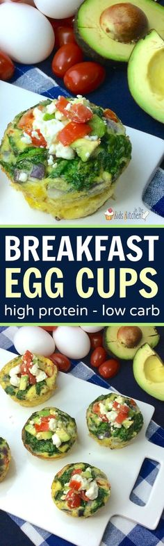 No more mid-morning crash! These easy and delicious veggie egg cups are a protein-packed breakfast that provides lasting energy.
