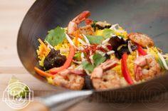Wok-fried vegetables, shrimp, peanut oil, jasmine, coriander, lime Peanut Oil, Fried Vegetables, Coriander, Wok, Jasmine, Shrimp, Tacos, Lime, Dishes