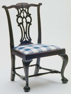 Side Chair, 1760-1775.  Unknown maker; Boston.  (1961.0140.001 A,B)