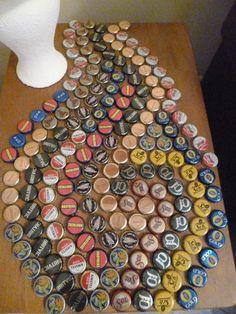bottle cap table mosaic