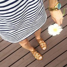 Striped dress! Tiaras and Heels blog