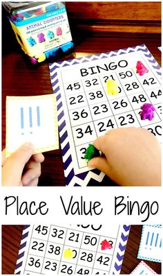 Get your FREE Place Value Bingo for Numbers 20 - 50