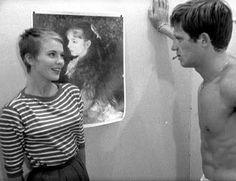 Jean Seberg in Breathless (1960), dir. by Jean-Luc Godard