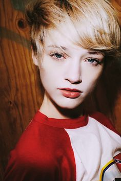 Picture of Liv O'driscoll Real Beauty, Beauty Women, Hair Beauty, Girls Short Haircuts, Short Girls, Short Hair Cuts, Short Hair Styles, Androgynous Models, Pale Skin