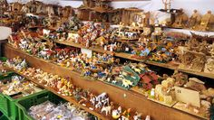 Christmas market in Plaza Mayor, Palma de Mallorca. Spain