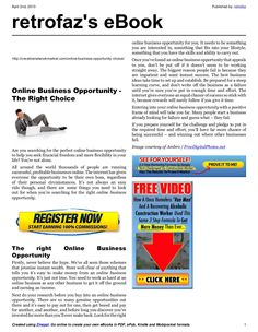 online-business-opportunity-18060992 by retrofaz via Slideshare