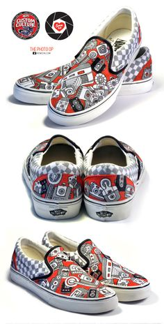 KENEDIK and Cameraluv were commissioned by Vans in early 2010 to create a variety of one-of-a-kind painted shoes for their nationwide Custom Culture Campaign to be on display at their different stores around the world. Vans Custom, Custom Shoes, Kecky, Shoe Art, Painted Shoes, Culture, My Style, Sneakers, Womens Fashion