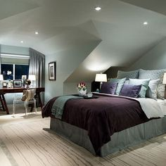 Bedroom Attic Design, Pictures, Remodel, Decor and Ideas - page 25