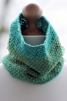 Pool Party Cowl: made with roughly 220 yards of dk weight yarn and size US 5 needles