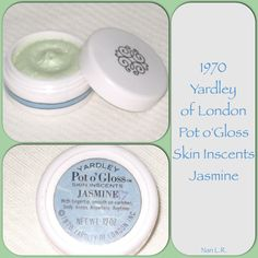 1970 Yardley Pot o'Gloss Skin Inscents. The scent is Jasmine. Sold for $51 in 2014.