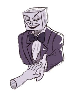 I mean, he's pretty good at his job as a Casino Manager and a host, and sweet-talks patrons into raising their stakes or signing the contracts Cartoon Games, Cartoon Shows, Cartoon Styles, Cartoon Art, Cuphead Game, Game Art, Otaku, Little King, Villainous Cartoon