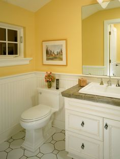 Another Idea For Part Of My Bath Remodel Bathroom YellowWarm