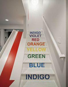 rainbow stair slide