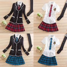 Japanese School Girl Cute Sailor Uniform Dress Full Set Cosplay Costume  #Unbranded #CompleteCostume