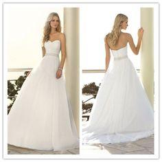 Simple Sweetheart Ball Gown Wedding Dress